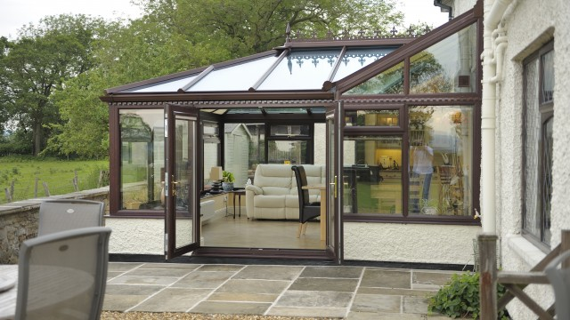 P-Shape Glass Conservatory Roof