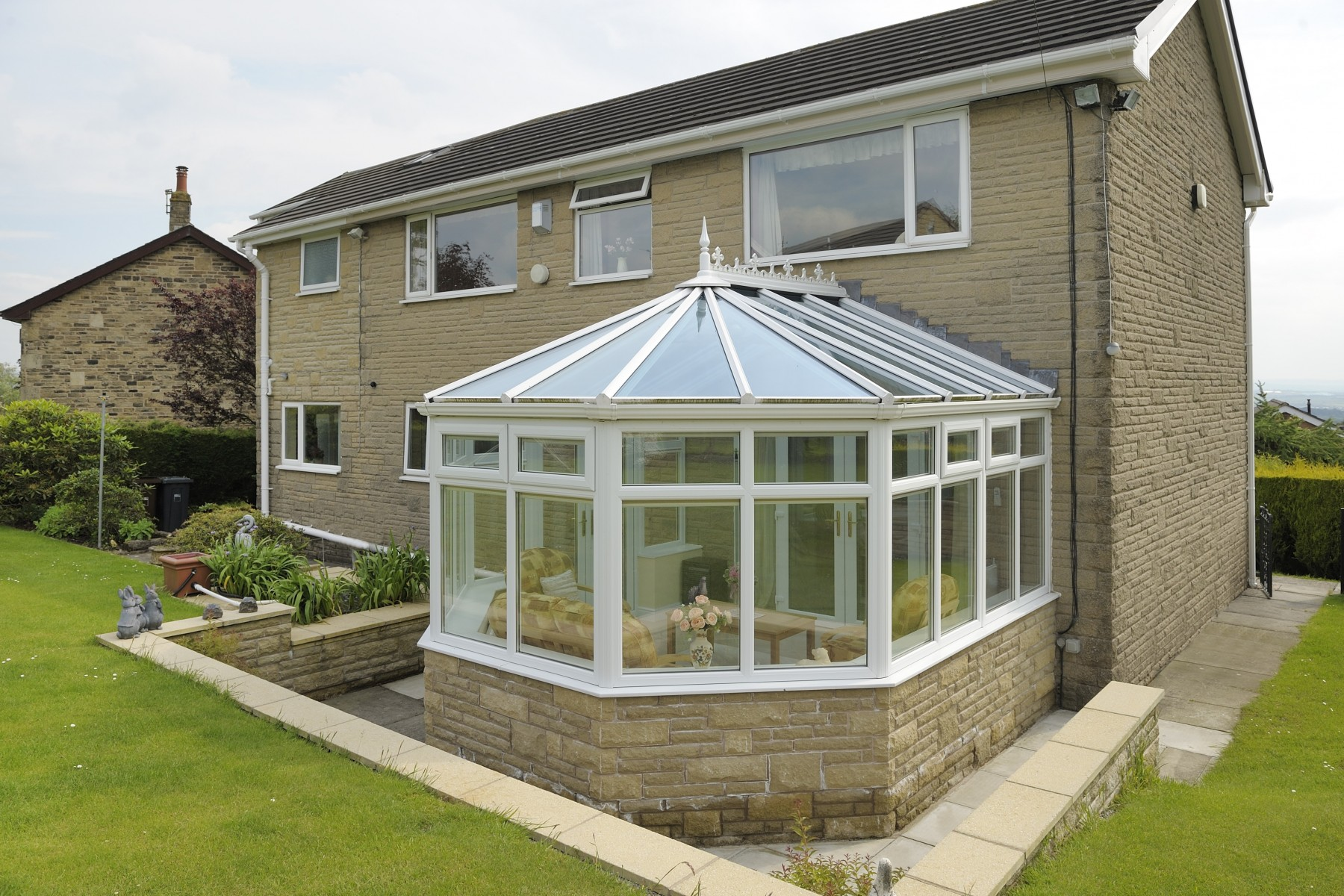 Small Glass Roof Conservatory