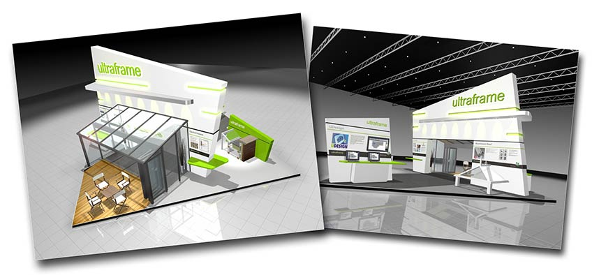 Ultraframe Glassex 2010 stand- Aerial view