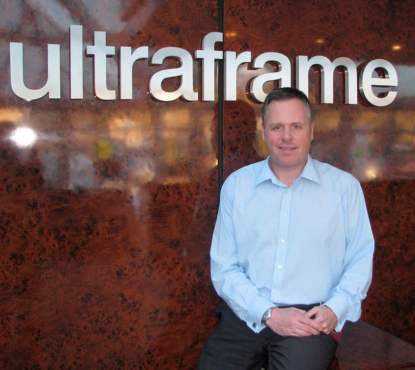 Iain Thomson, Managing Director of Ultraframe UK Ltd