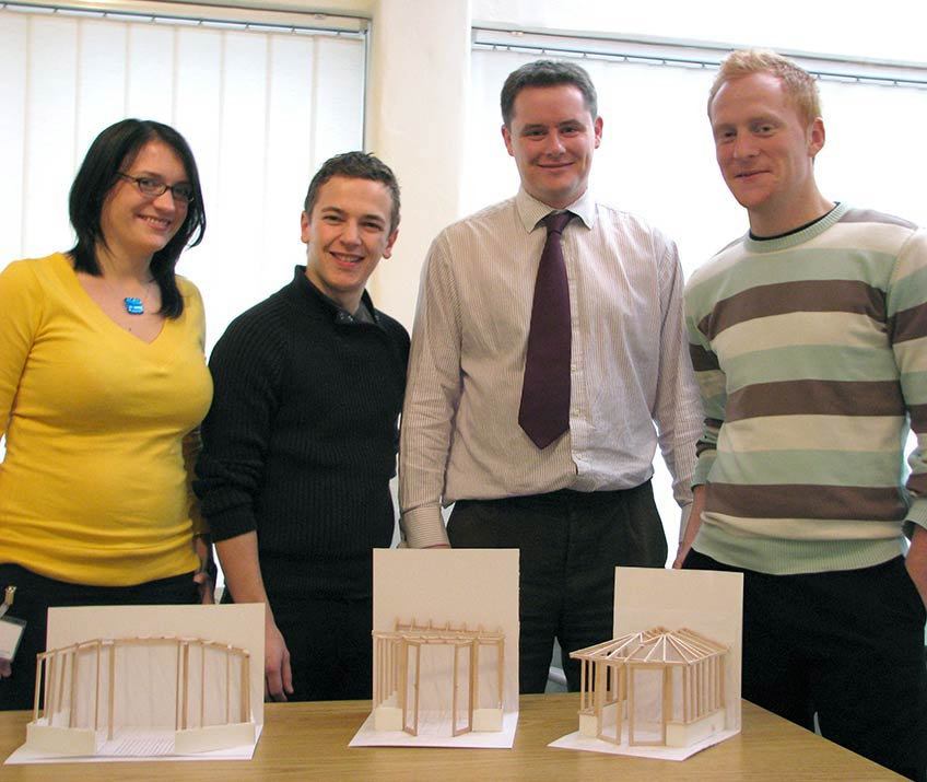 Ultraframe R&D Graduates with Andrew Thomson, Design & Development Director