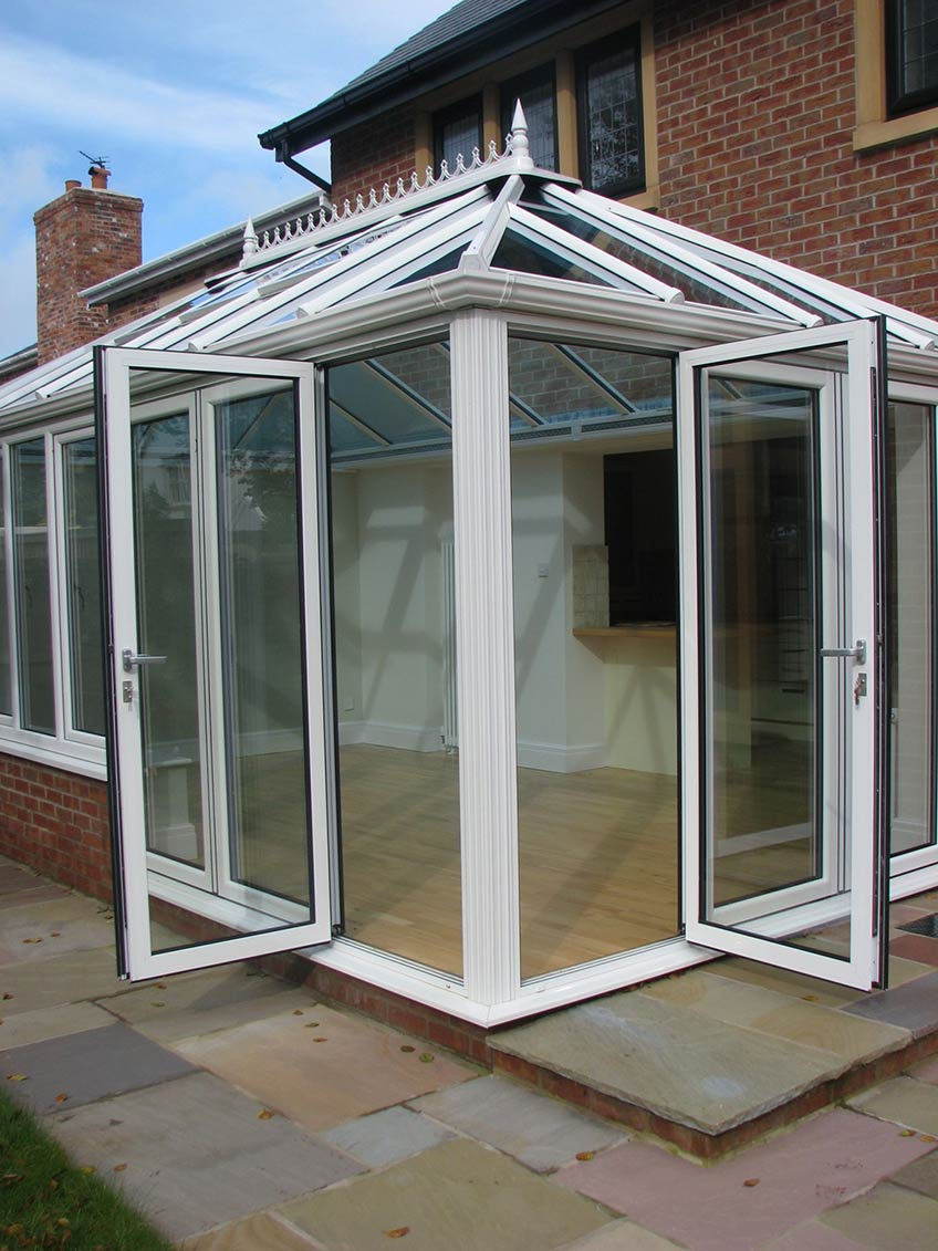 Structural assurance for conservatories with bi fold doors for Conservatory sliding doors